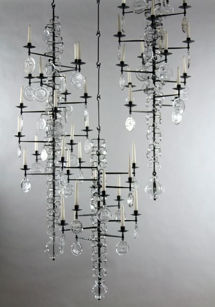 Group Of Candelabra Sweden C 1957 This Wrought Iron And Glass Candelabra Glass Candelabra Lighting Inspiration Lighting Concepts