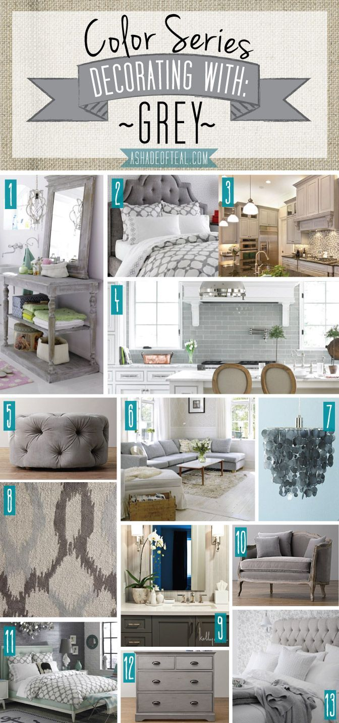 Color series decorating with grey decorating gray and interiors