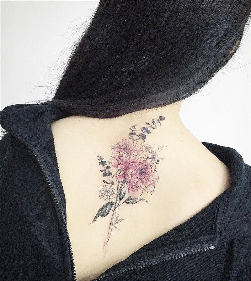 Tatouage Fleurs Delicates Couleur Pastel Tattoos Pinterest