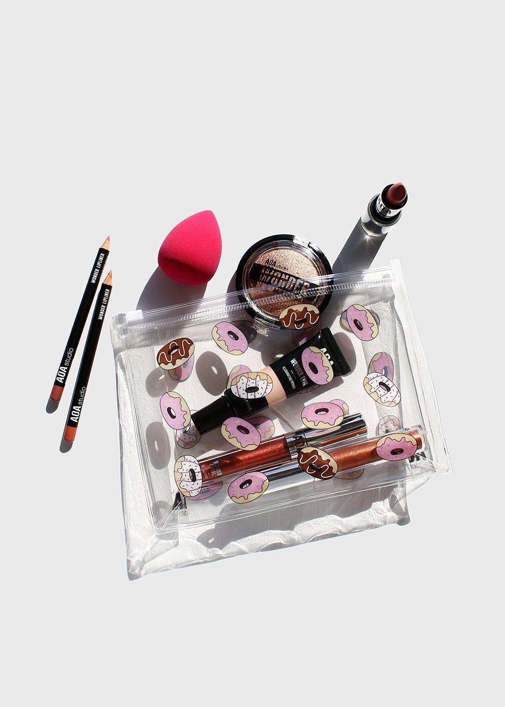 d927fa0c70f6 AOA Clear Makeup Pouch - Donuts in 2019