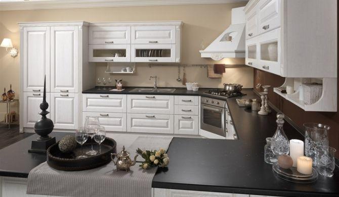 cucina country bianca top nero - Cerca con Google | cucina ...