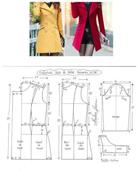 Moldes de sobretudo | SZYCIE | Pinterest | Patterns, Sewing patterns ...