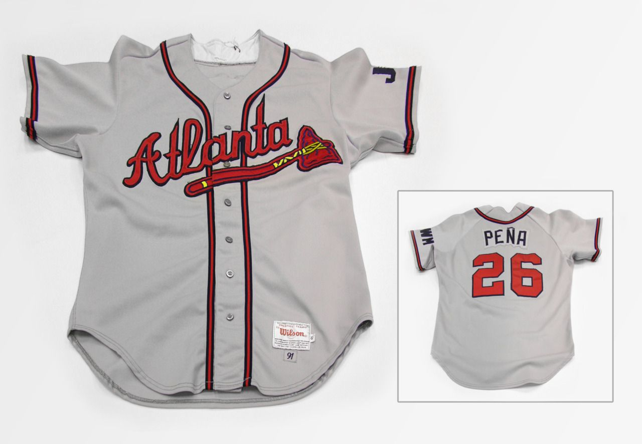 Atlanta Braves jersey from the 1991 World Series