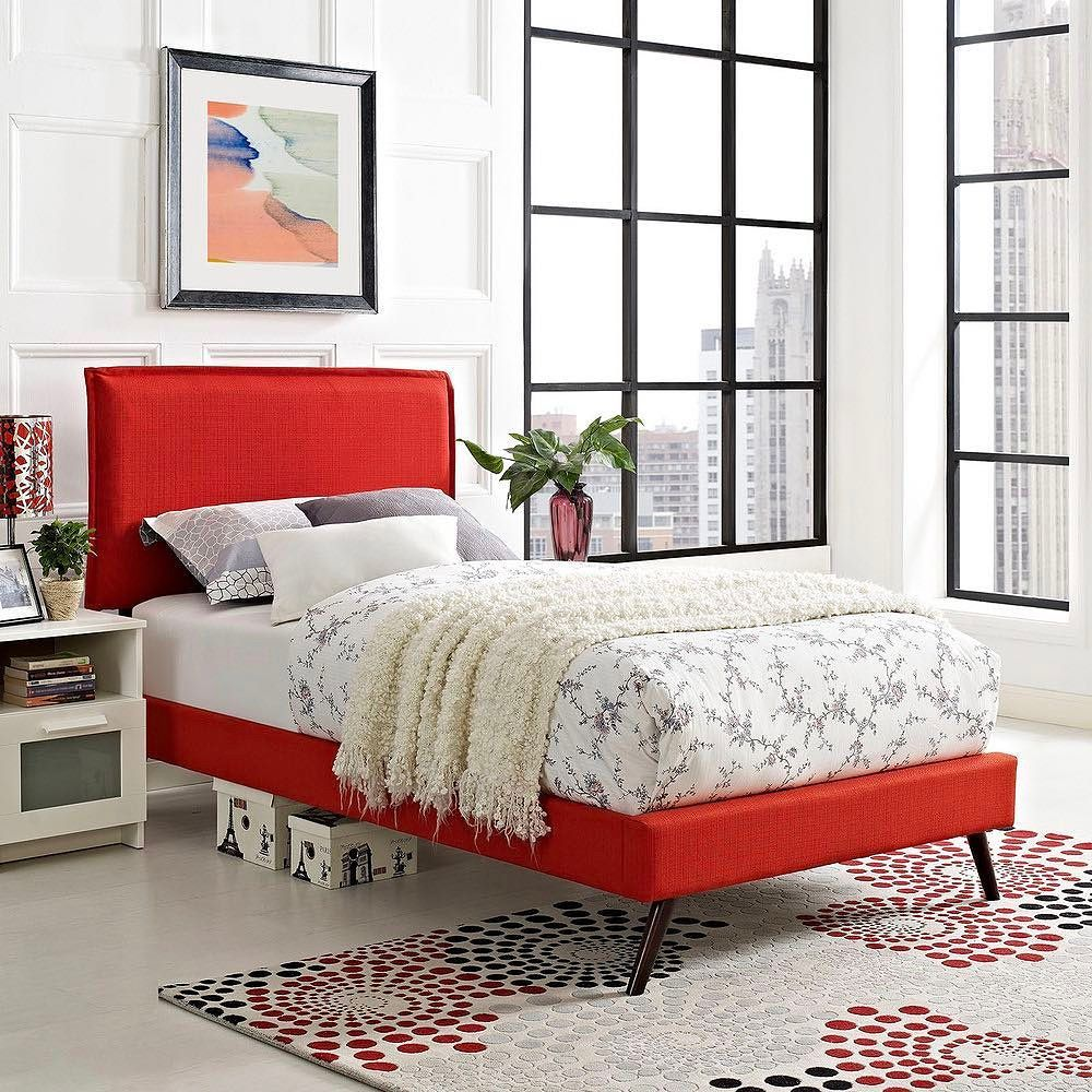 Double tap if you're a fan of bright bed frames. Shop this