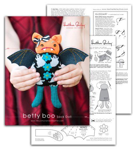 Betty Boo Bat doll pattern (free download)