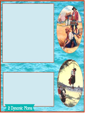 Dynamic 2 Moms - Pirates Notebooking Page 1