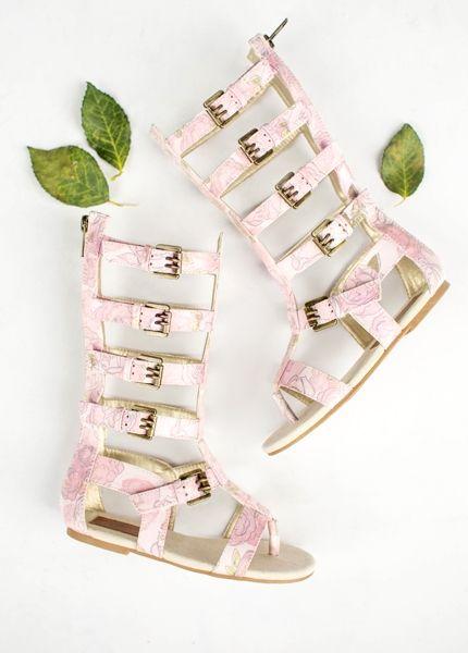 f1076e6fb1f Joyfolie - Jayla Gladiator Sandals in Rose Floral