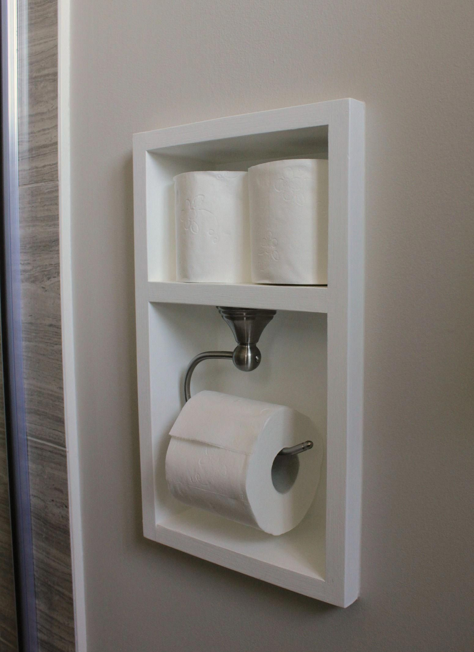 47++ Small bathroom toilet paper holder ideas