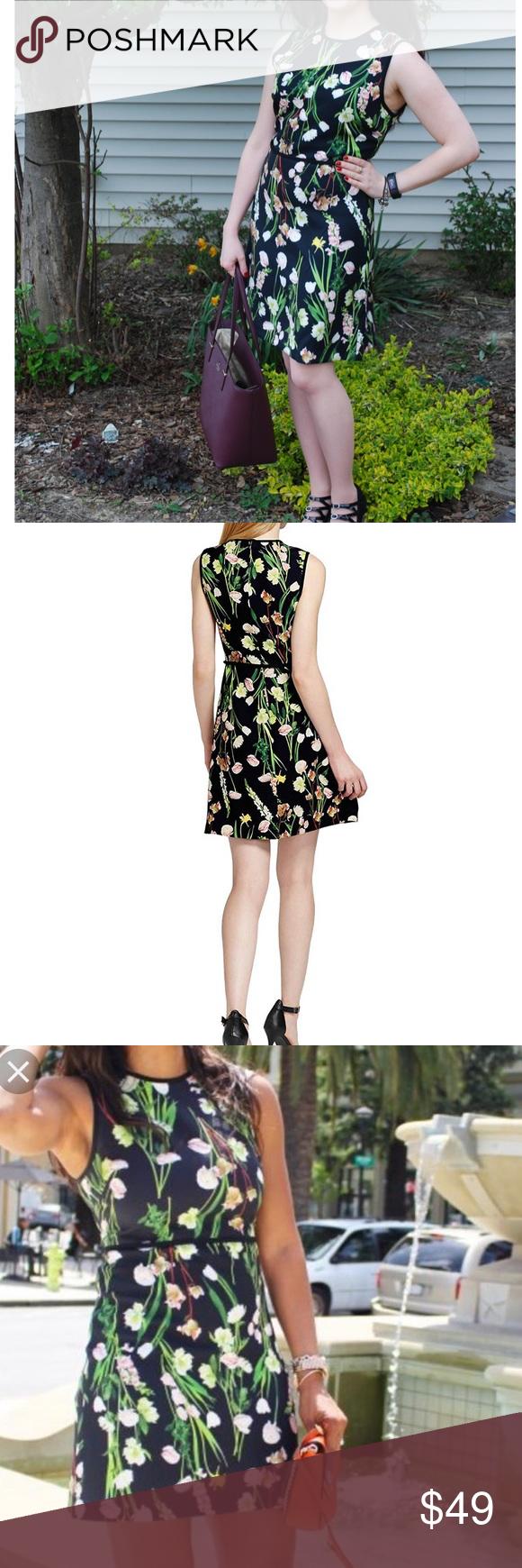 Victoria Beckham For Target Black Floral Dress S Floral Dress Black Victoria Beckham Target Clothes Design [ 1740 x 580 Pixel ]
