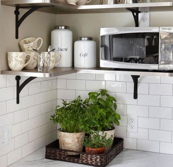 Навесные полки для кухни: фото обзор удачных вариантов в ...