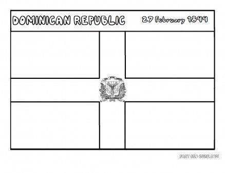 Printable Flag Of Dominicanrepublic Coloring Page Printable