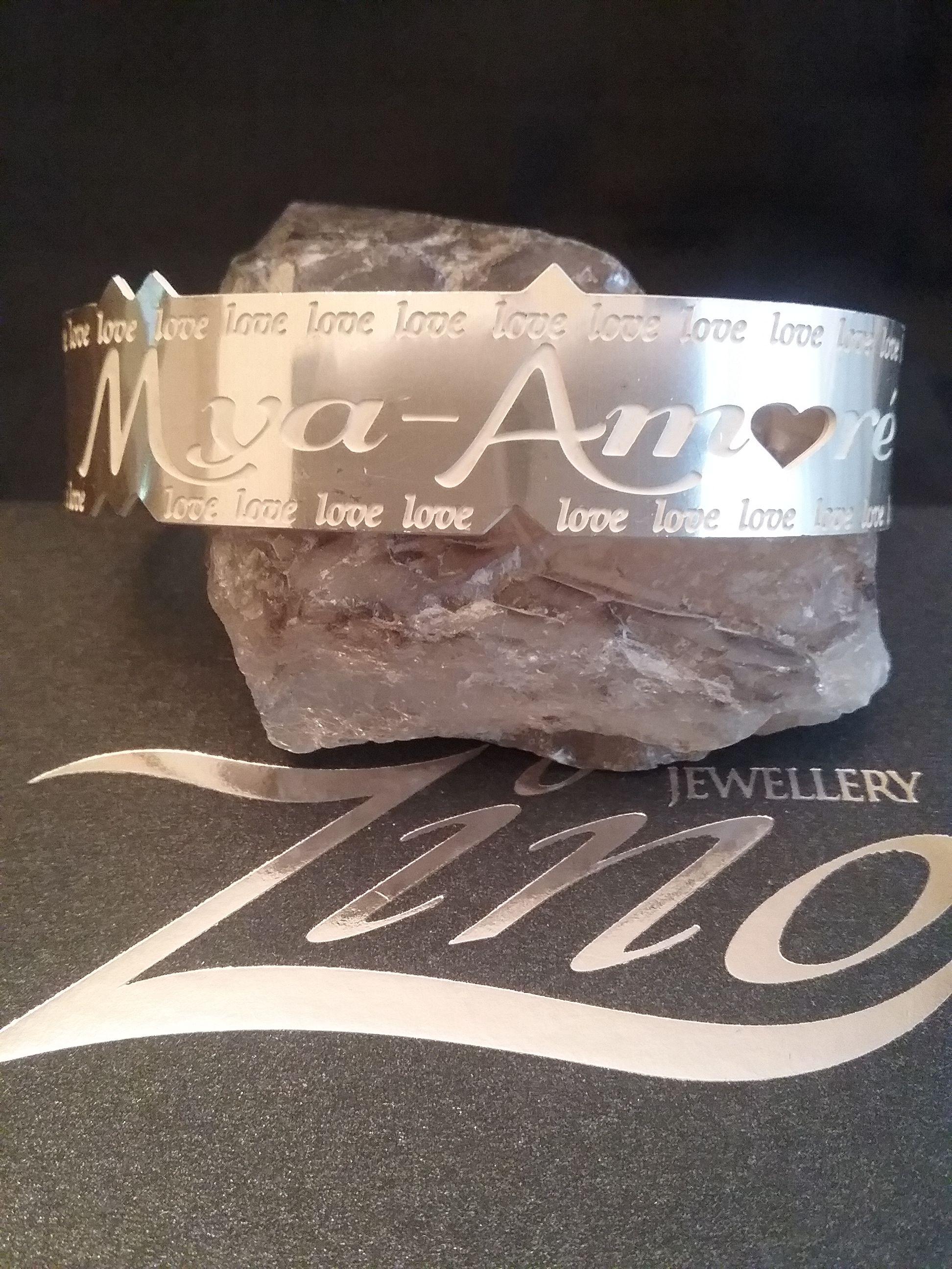 Zino UK Jewellery 'mya-amore bangle' solid sterling silver