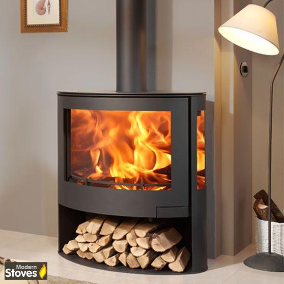 Iris 10kw Curved 3 Sided Contemporary Multi Fuel Wood Burning Stove Mode Wood Burning Stoves Living Room Contemporary Wood Burning Stoves Wood Burner Fireplace