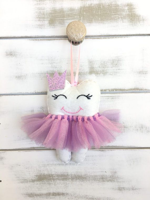 Personalized Tutu Tooth Fairy Pillow with Glitter Crown or Bow ...