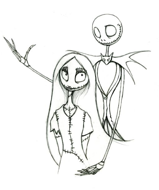 Free Printable Nightmare Before Christmas Coloring Pages Movies