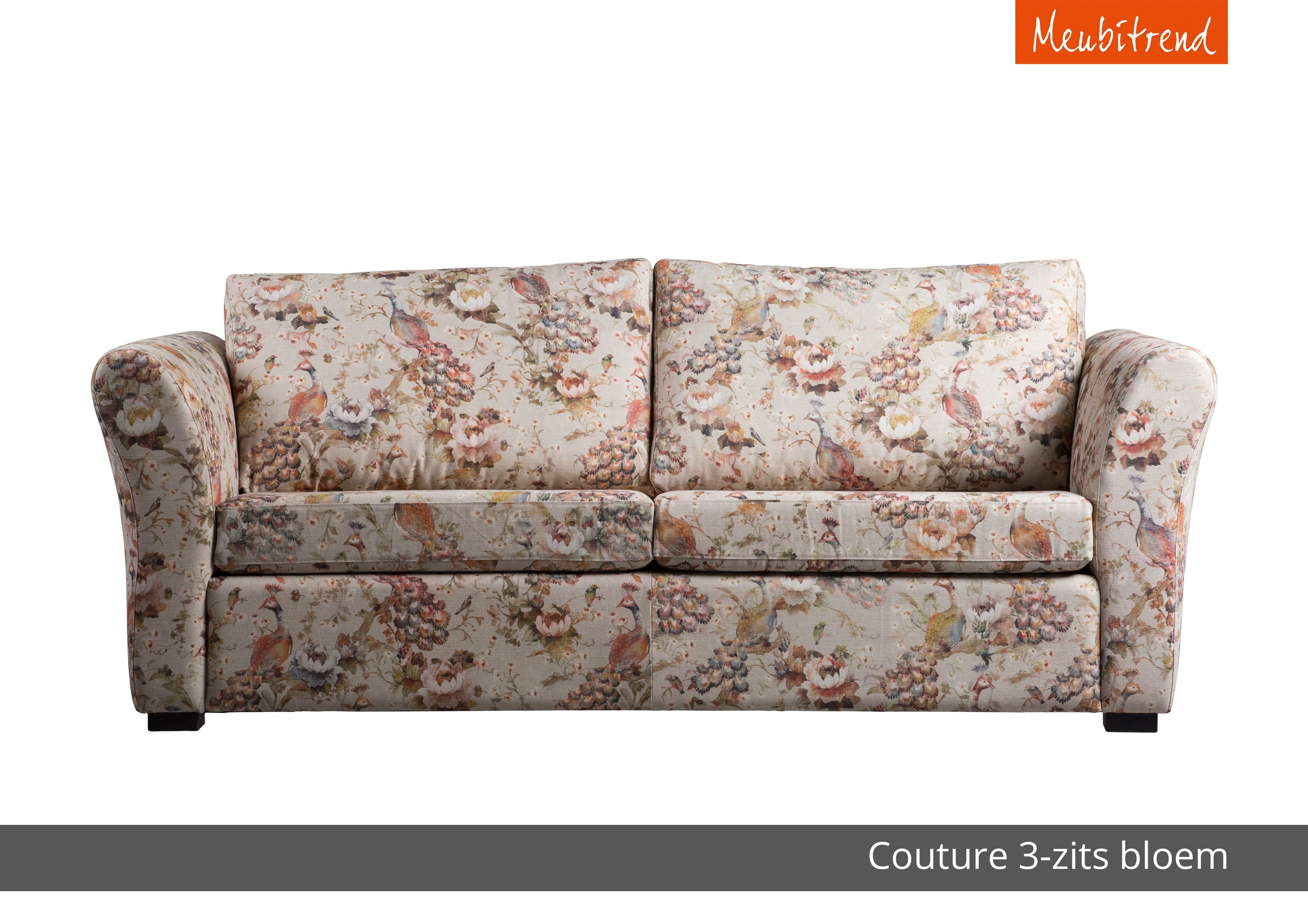 Ronde Bankstellen Perfect Couture Bank Sofa Ronde Arm Gebloemde Stof