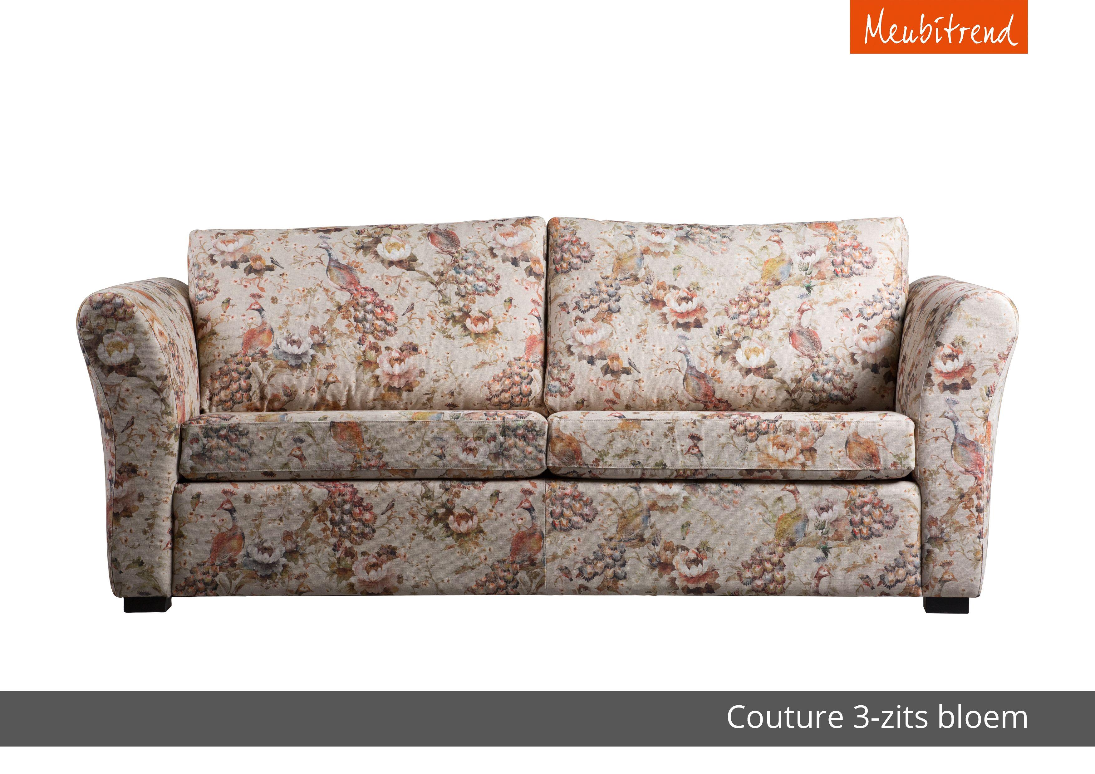 couture bank sofa mogelijkheden ronde arm gebloemde stof inspiratie - Banksofa