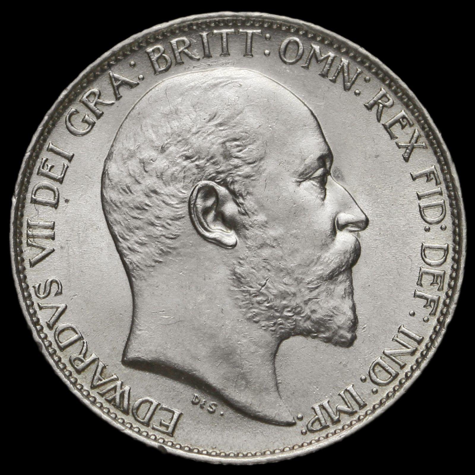 Edward Vii Silver Sixpence Rare