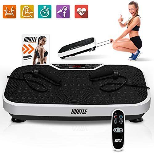 Hurtle Fitness Vibration Platform Machine - Home Gym Whole Body Shaker Exercise Machine Worko...