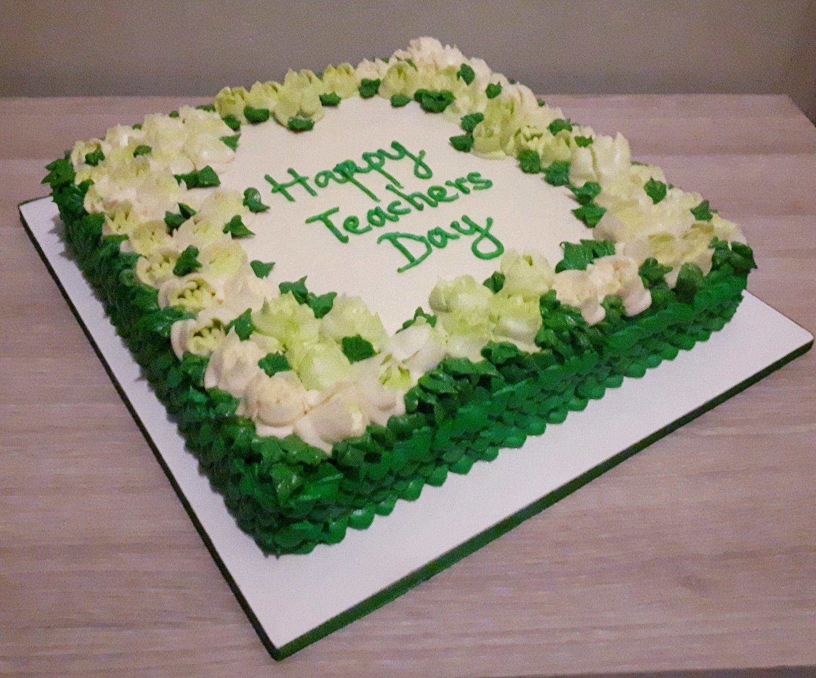 Floral Teacher S Day Cake Teachers Day Cake Cake Food