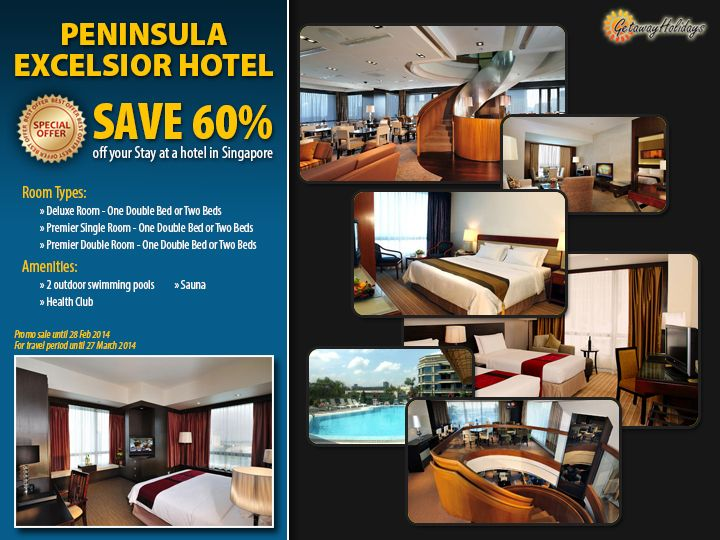 #HotelSale! Save 60% off your #Singapore stay when you book at Peninsula Excelsior Hotel