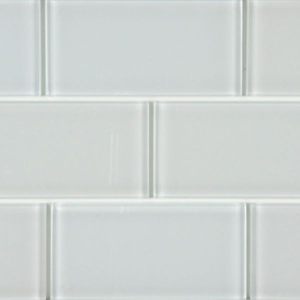 Somertile  in reflections subway ice white glass tile case of size  also for sink backsplash use green tiles