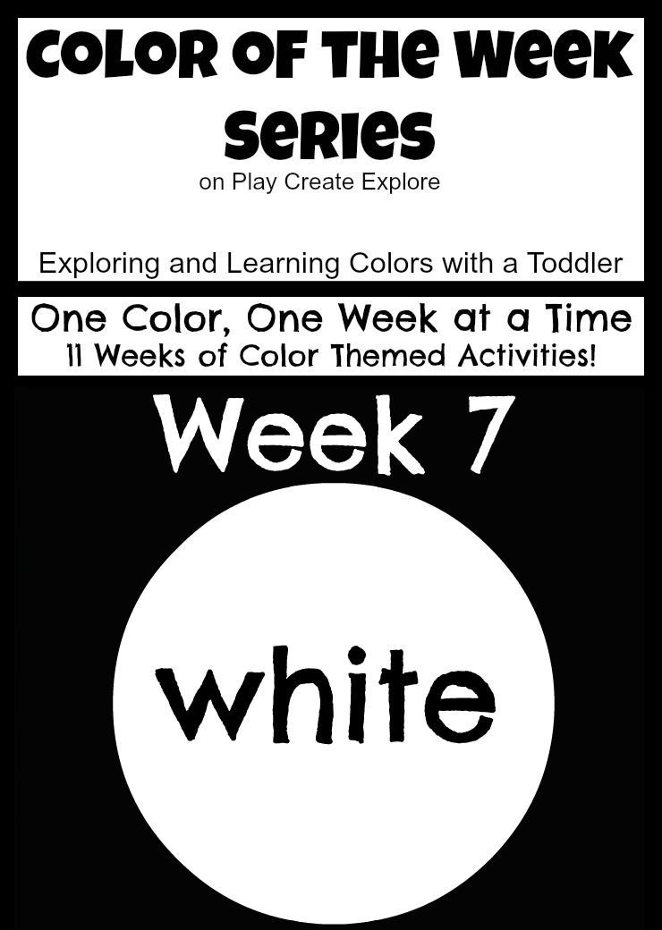 """Color of the Week: White. Lots of """"white"""" themed activities and sensory bin ideas."""