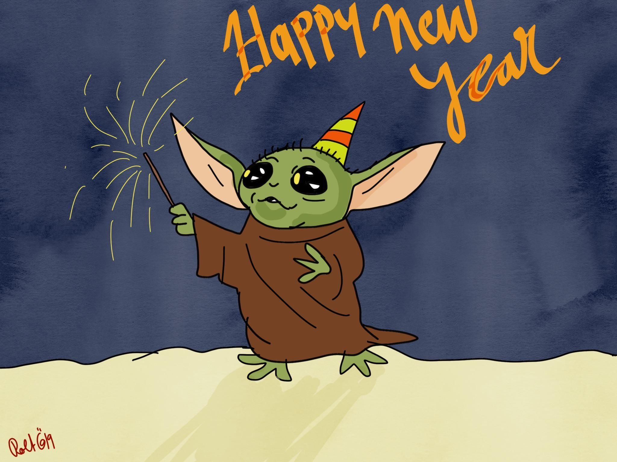 Happy New Year R Yiddle Baby Yoda Grogu Yoda Images Yoda Star Wars Yoda
