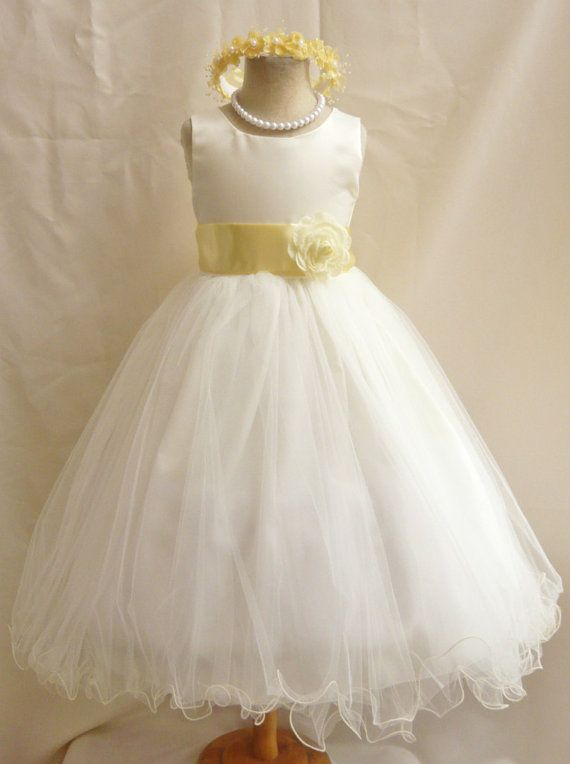 Yellow and white dresses for girls