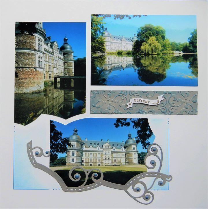Loire A4 stencil – GAB 753 | Lets Create With Lyn Holmes – AZZA European Scrapbooking (Perth – Western Australia)