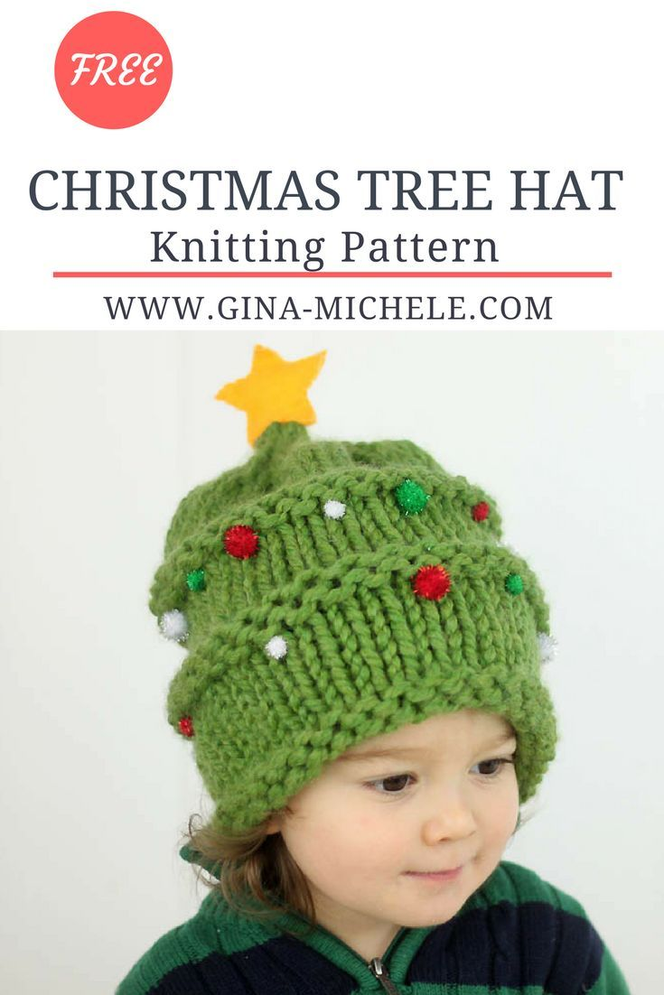 FREE knitting pattern for this festive Christmas Tree Hat! 33774d56466