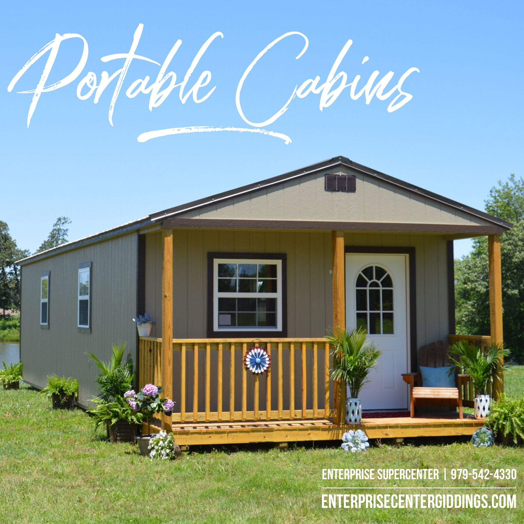 Enterprise Supercenter Offers The Derksen Portable Cabin Numerous Urethane And Painted Exterior And Roofing Portable Cabins Portable Buildings Getaway Cabins