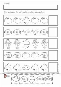 autumn fall math no prep worksheets activities math worksheets pattern cutting and worksheets. Black Bedroom Furniture Sets. Home Design Ideas