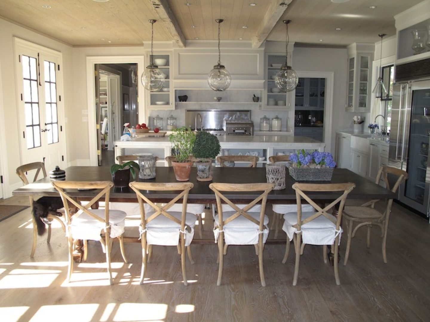 Rustic French Country Kitchen | ... Kitchen Island French Country Kitchen  Pendant Lighting Glass