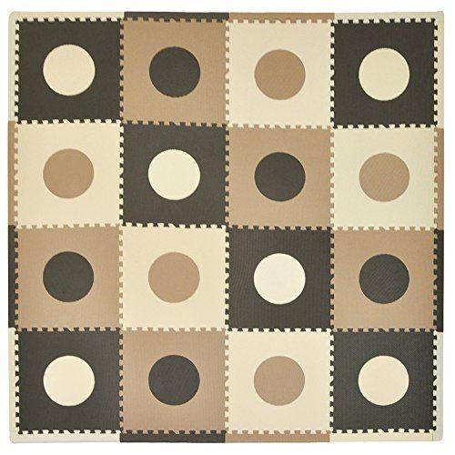 Tadpoles 16 Sq Ft Playmat Set, Taupe/Brown Tadpoles