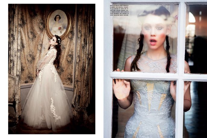Gleaming Mermaid by Ellen Von Unwerth for Vogue Italia | #fashion #editorial #photography