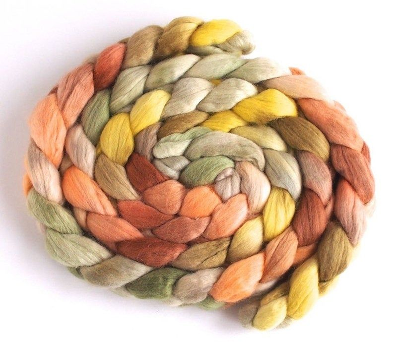 Hand Painted Colorway The Bucket Brothers Medium Finn Wool Hand Spinning Roving