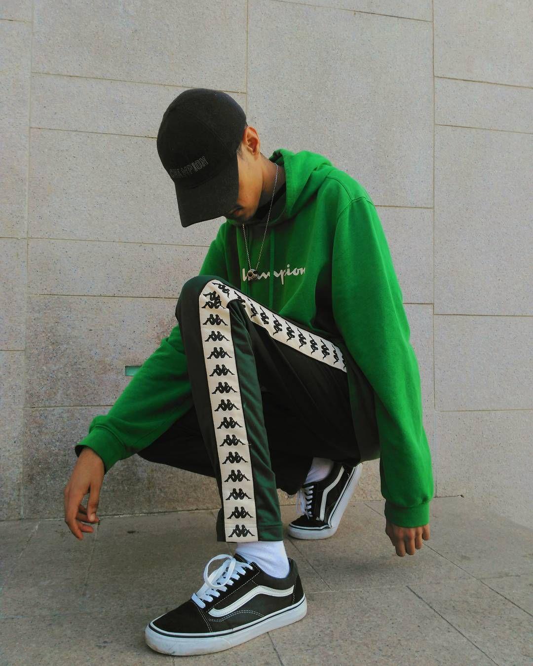 Champion Hoodie || Kappa Track Pants