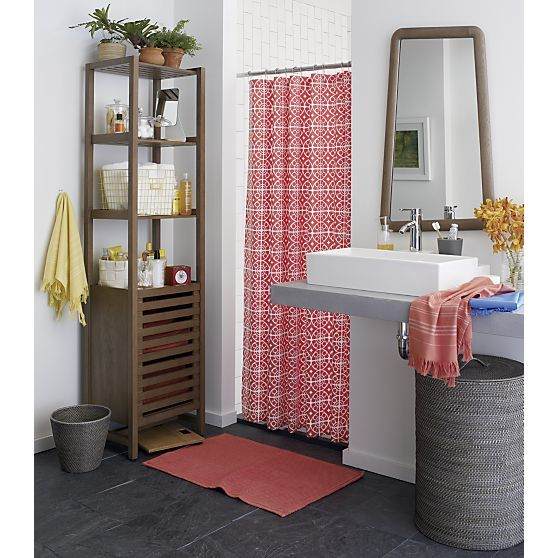 Taza Coral Shower Curtain In Curtains Rings