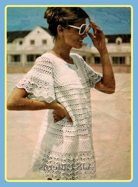 Crochet Beach Cover Up Pattern Free Knitting Pinterest Beach