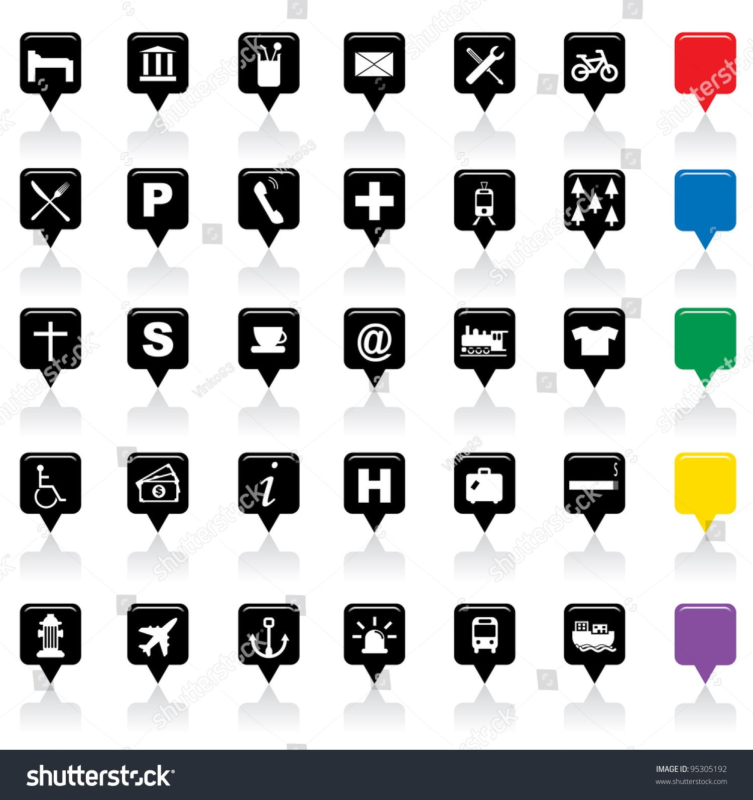 Vector Illustration Of City Map Icons Sponsored Spon Illustration Vector City Icons With Images Map Icons City Map Vector Illustration