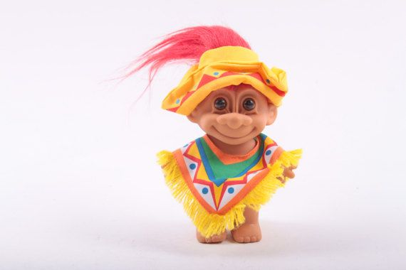 mexico mexican troll doll south american poncho sombrero red