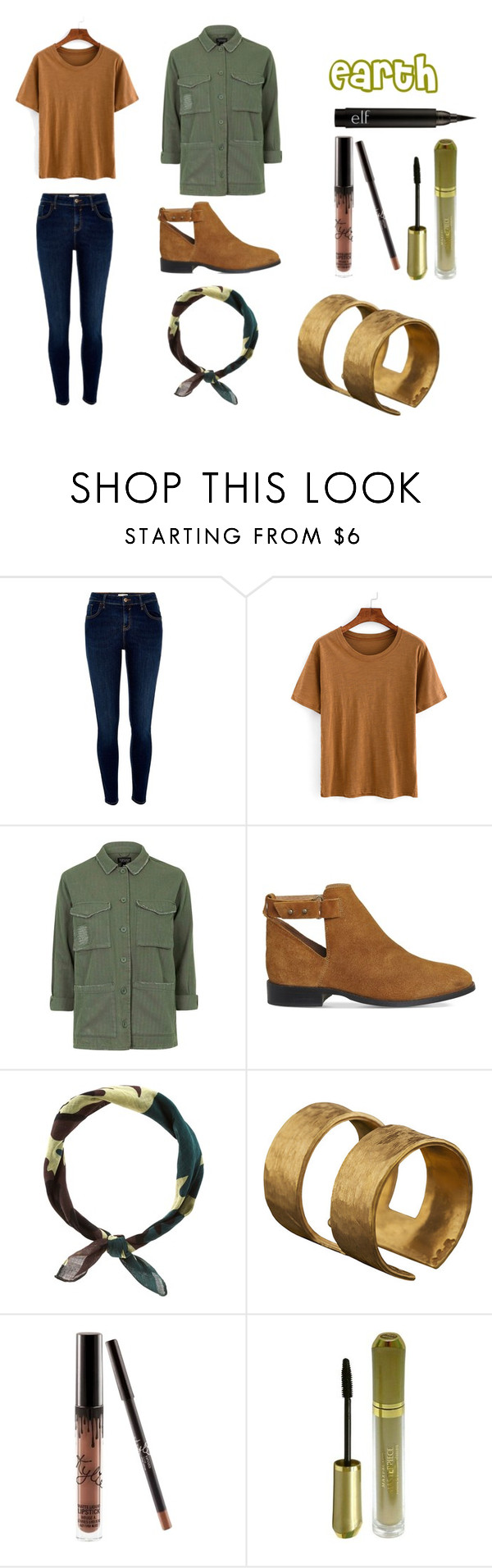 """Earth"" by electronic-lions on Polyvore featuring River Island, Topshop, Office, New Look, ADIN & ROYALE, Max Factor, modern, neutrals, earthtones and atla"