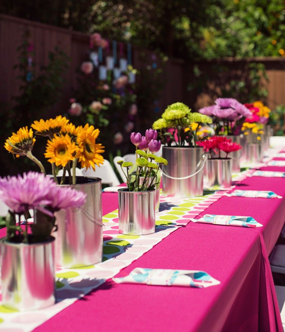 Birthday Party Table Decorations Kids Centerpieces Inexpensive Ideas