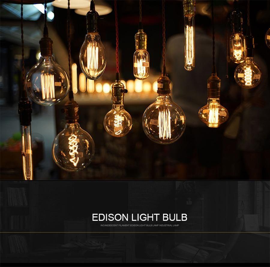 Visit To Buy E27 40w Vintage Lamp Edison Bulb Chandelier Lighting G125 St64 G80 220v For Decor Filament Bulb E Light Bulb Edison Bulb Lamp Bulb Pendant Light