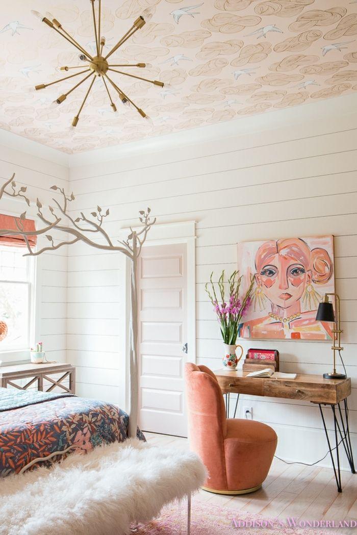 Peinture Murale Fille En Couleurs Pastels Chambre Cocooning Ado