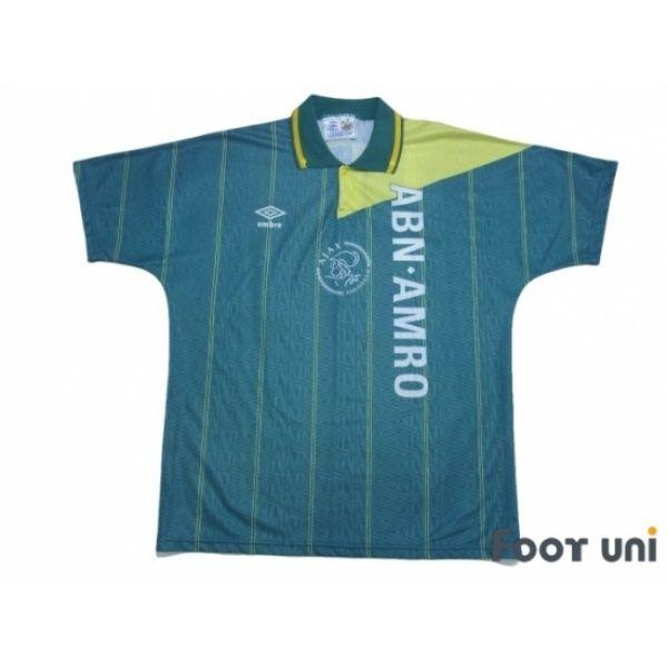 Photo1: Ajax 1991-1992 Away Shirt umbro - Football Shirts,Soccer ...