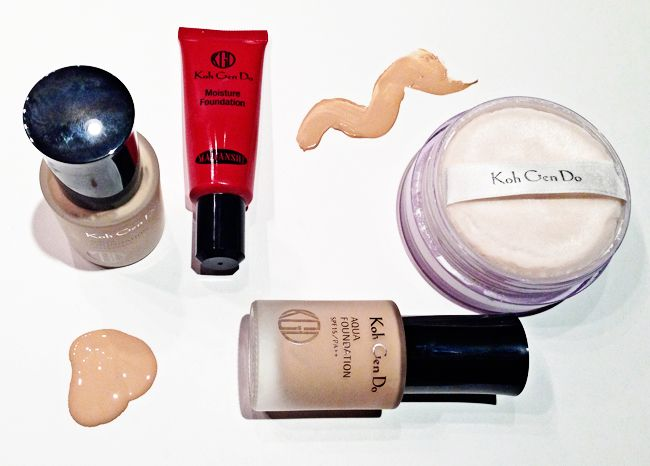 Koh Gen Do foundations and powders