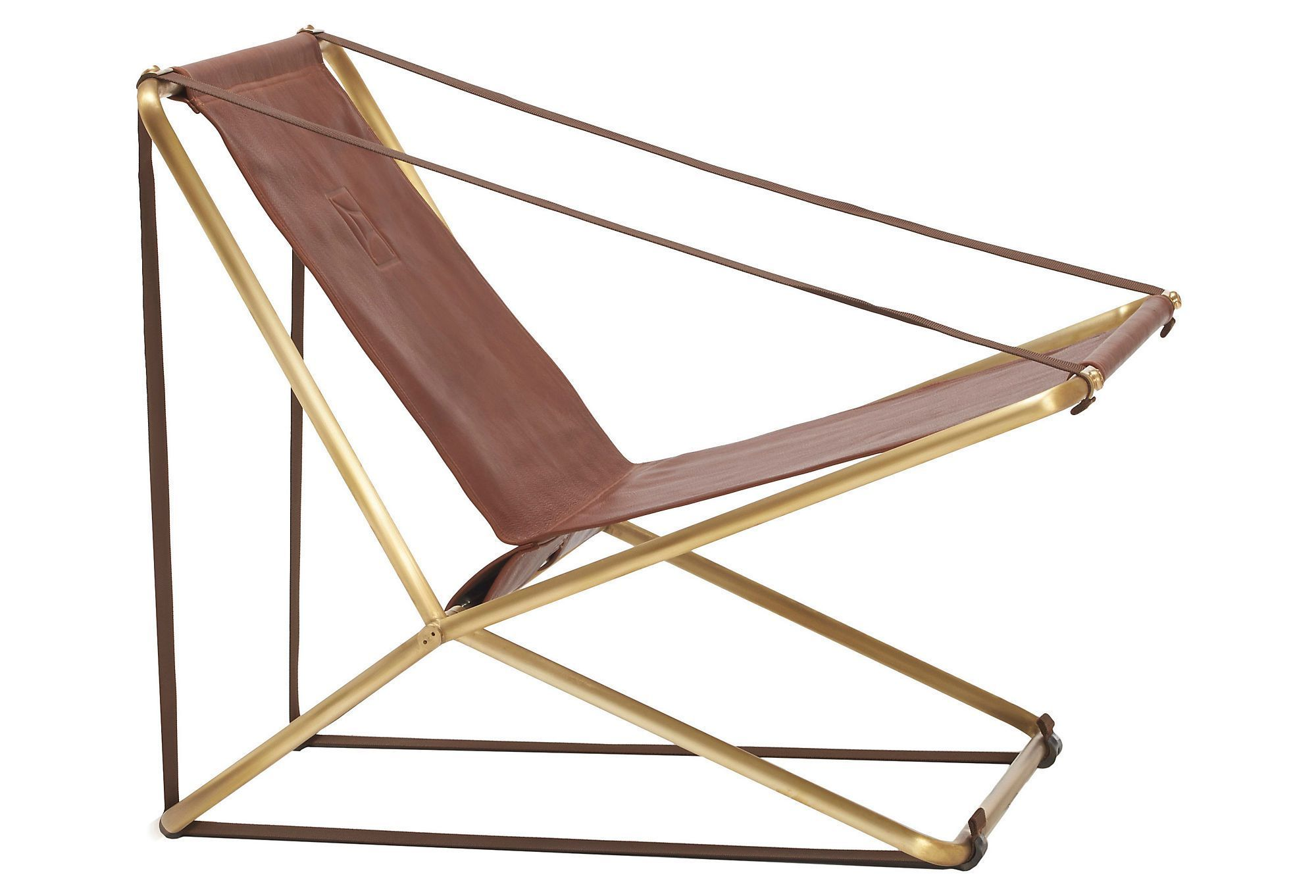 Cricket Brass Leather Folding Chair Style Trip