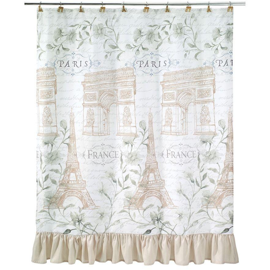 Avanti Paris Botanique Shower Curtain Curtains Curtain